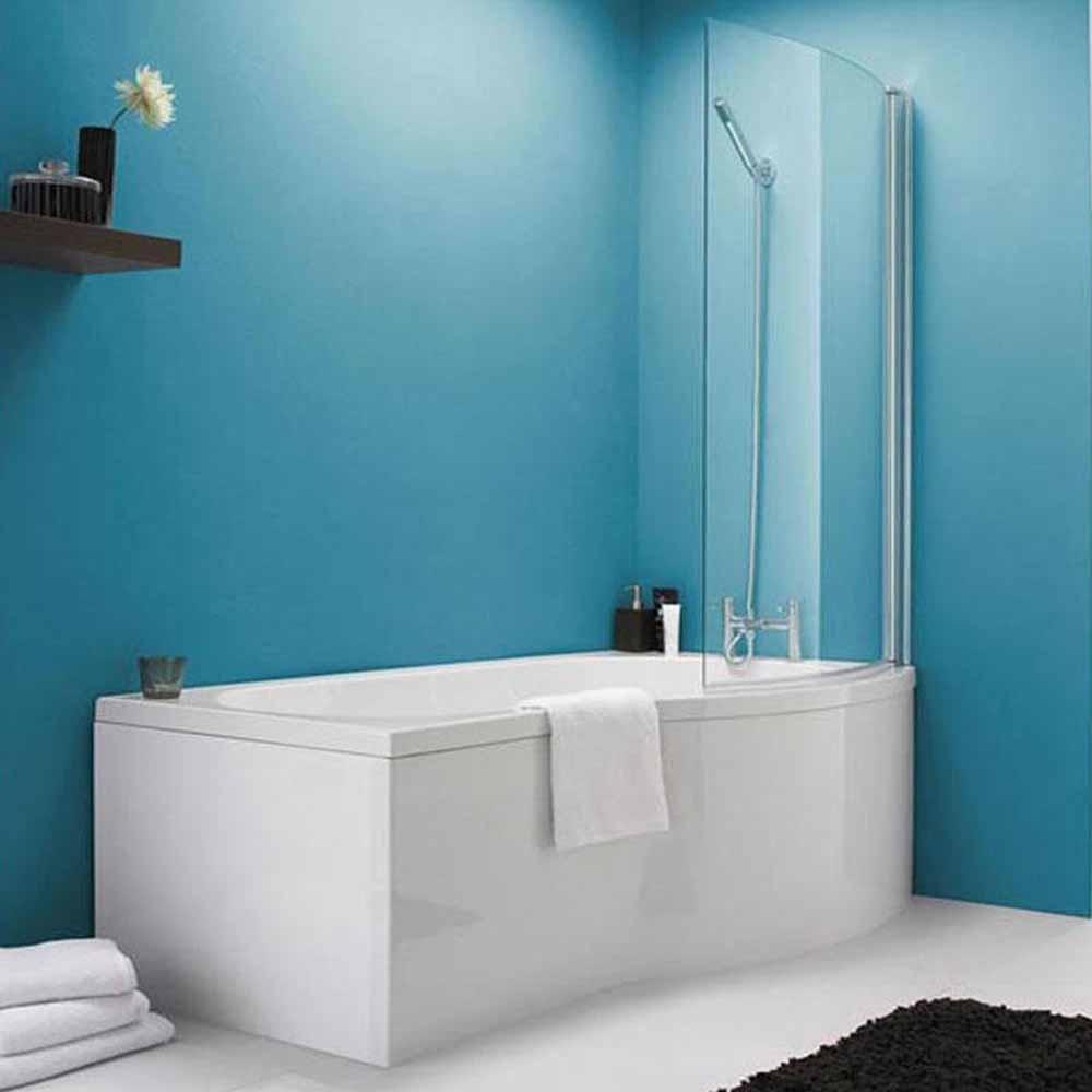 right hand shower bath mobroi com liberty p shape right hand shower bath front panel screen 1700mm