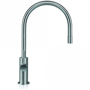 MGS Spin E Polished Stainless Steel Pullout Kitchen Sink Mixer Tap 0151P