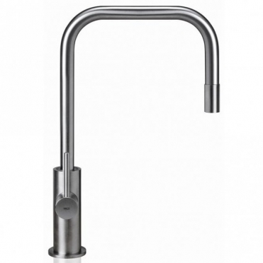 MGS Spin Sqe Polished Stainless Steel Pullout Kitchen Sink Mixer Tap