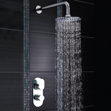 None Nachi Concealed Round Chrome Thermostatic Shower