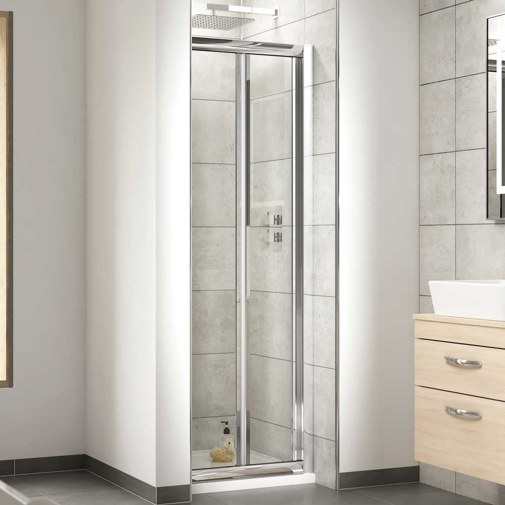 Nuie Pacific Bi Fold Shower Door 1100mm Aqbd11