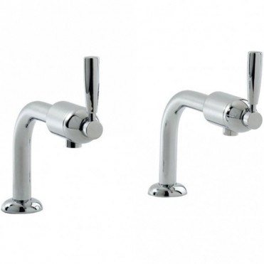 Perrin & Rowe Perrin & Rowe Cirrus Bibcocks Chrome Deck Mounted Kitchen Sink Taps 4832