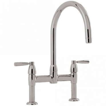 Perrin & Rowe Perrin & Rowe Io Bridge Pewter Lever Handle Kitchen Sink Mixer Tap 4293
