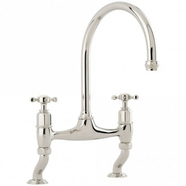 Perrin & Rowe Perrin & Rowe Ionian Dual Handle Nickel Kitchen Sink Mixer Tap 4192NI