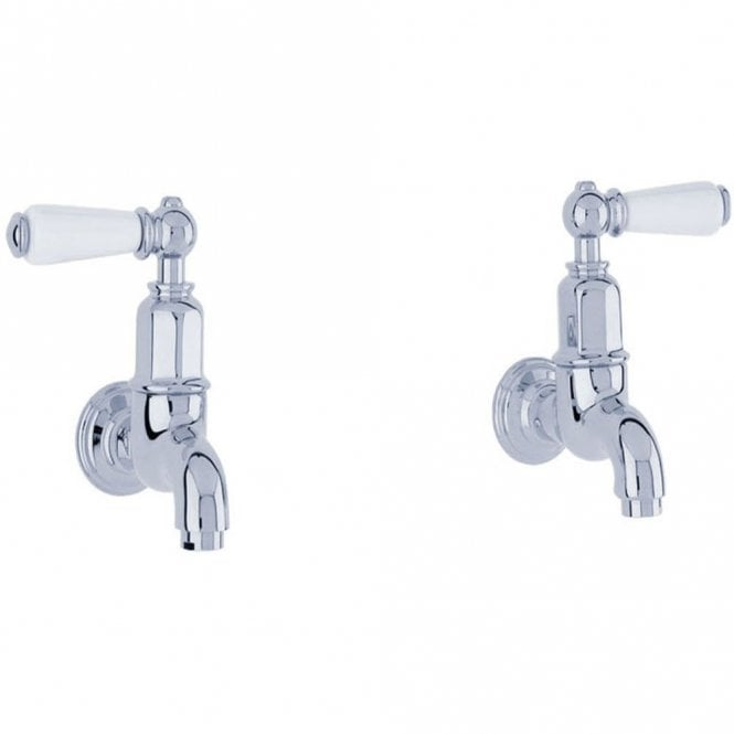 Perrin Rowe Mayan Traditional Chrome Ceramic Lever Wall Mounted