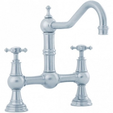 Perrin & Rowe Perrin & Rowe Provence Pewter Kitchen Mixer Tap With Cross Head Handles