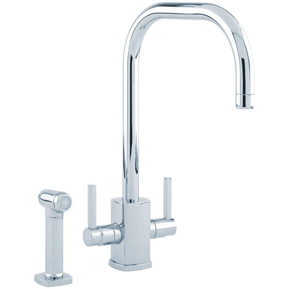 Perrin & Rowe Rubiq U Spout Chrome Kitchen Sink Mixer Tap & Spray 431...