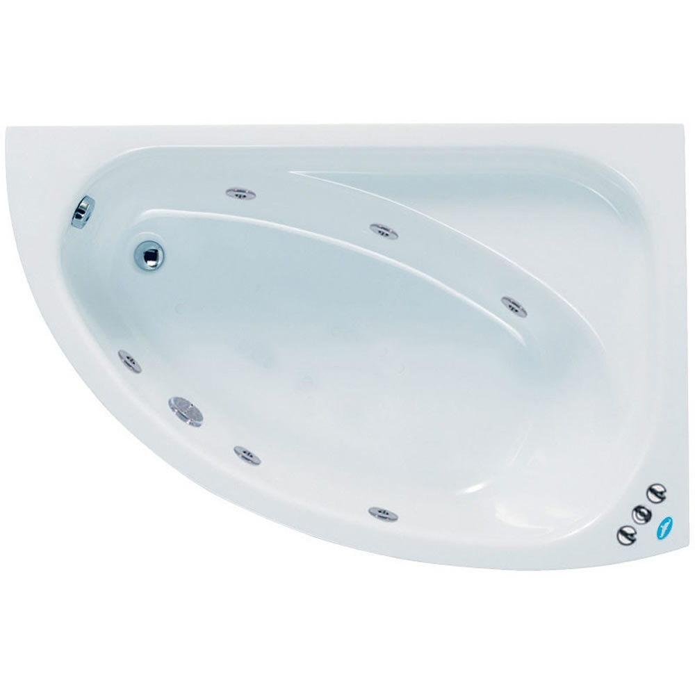 Phoenix Duo 1500 X 1000 White Left Hand Shower Bath