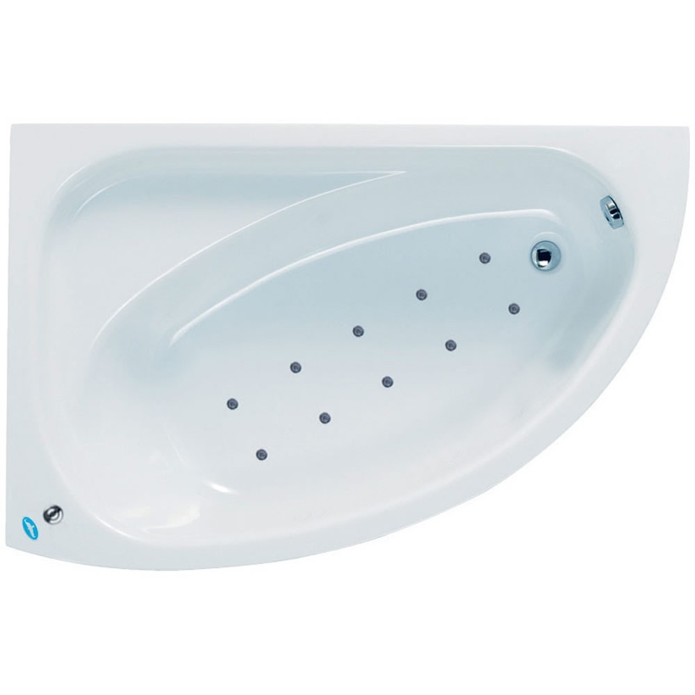 Phoenix Duo 1500 X 1000 White Right Hand Shower Bath