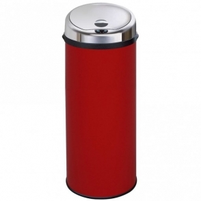 Inmotion 50L Red Stainless Steel Auto Automatic Sensor Kitchen Waste Dust Bin