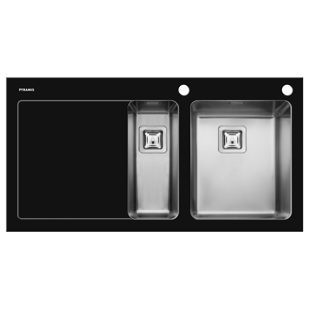 Black Stainless Kitchen Sink : ... ? View All 1.5 Bowl Sinks ? View All Pyramis 1.5 Bowl Sinks