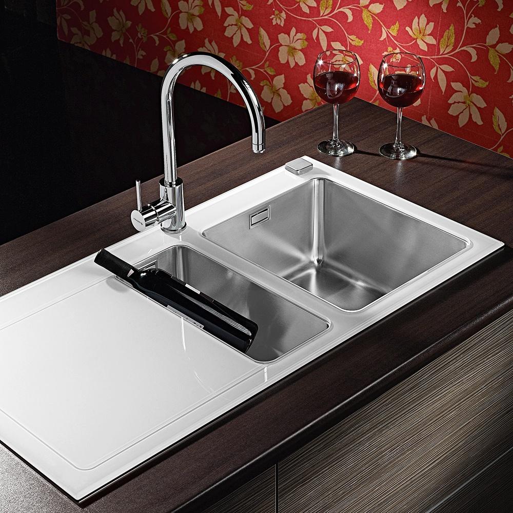 pyramis crystalon 1 5 bowl white glass kitchen sink waste tap lhd pyramis crystalon 1 5 bowl white glass kitchen sink waste tap. Interior Design Ideas. Home Design Ideas
