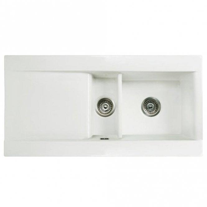 RAK Ceramics Gourmet Dream Sink 1 Reversible 1.5 Bowl White Ceramic ...