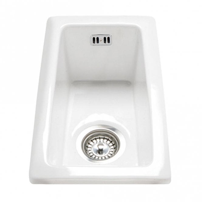 Rak Ceramics Gourmet Sink 7 Inset Undermount 0 5 Bowl White Ceramic Kitchen
