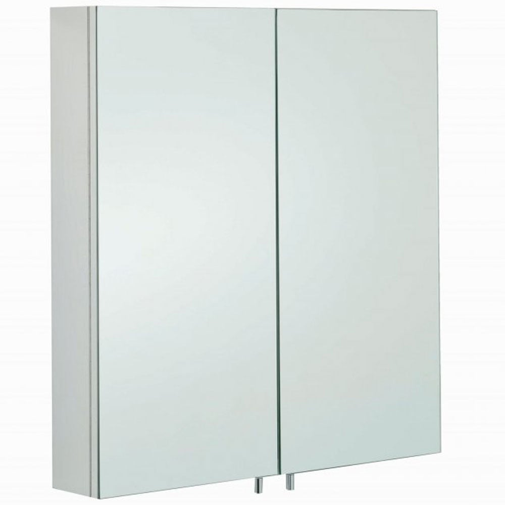 Rak Delta Stainless Steel Double Door Bathroom Mirror Cabinet 600x670mm 12sl801 Mirrors And Mirrored Cabinets From Taps Uk