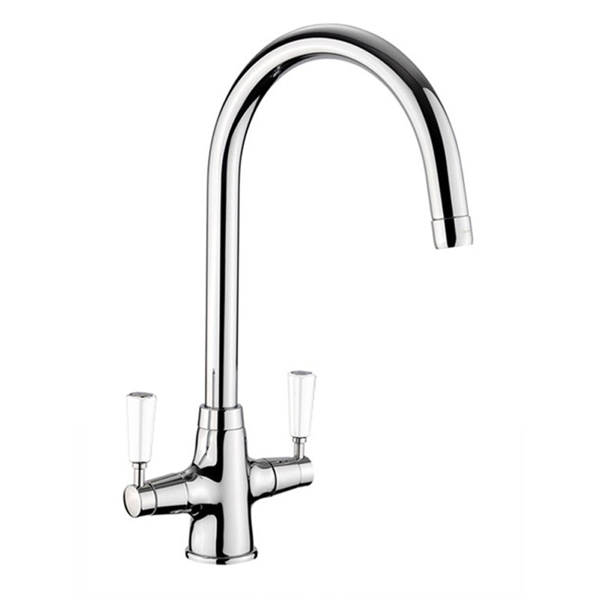 Rangemaster Aquaclassic  Chrome Kitchen Sink Mixer Tap White - Kitchen sink taps uk