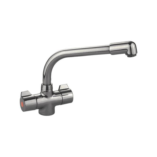 Rangemaster Aquadisc 2 Brushed Steel Kitchen Sink Mixer Tap TAD2BF ...
