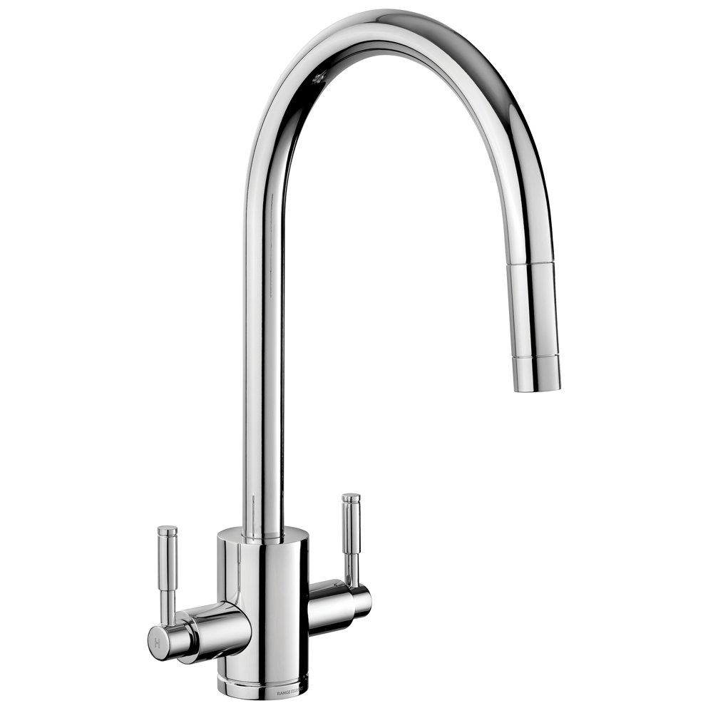 Rangemaster Aquatrend Brushed Pull Out Kitchen Sink Mixer Tap ...