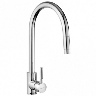 Rangemaster Aquatrend Brushed Pull Out Kitchen Sink Mixer Tap TRE1SLPOBF