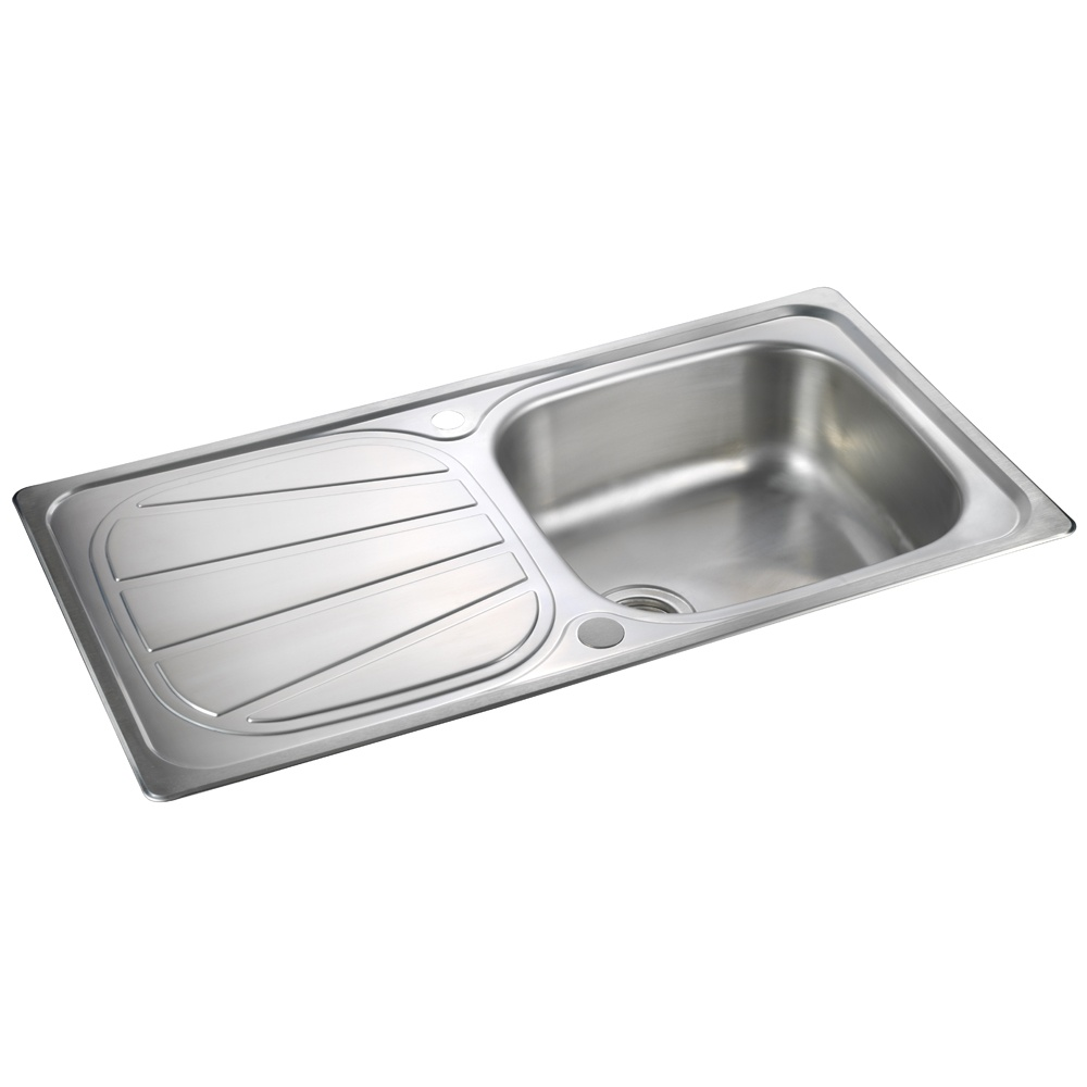 Brushed Stainless Steel Sinks Kitchen : ... ? View All 1.0 Bowl Sinks ? View All Rangemaster 1.0 Bowl Sinks