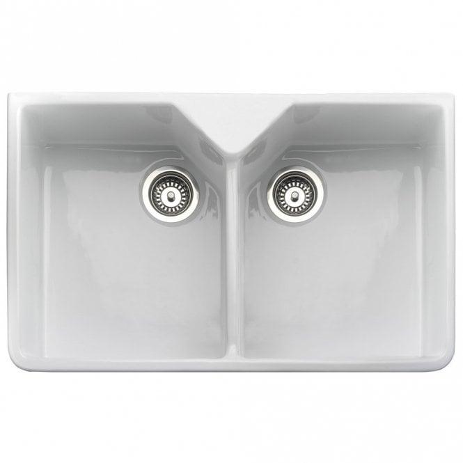 Rangemaster Belfast 2.0 Bowl White Ceramic Kitchen Sink CDB800WH ...
