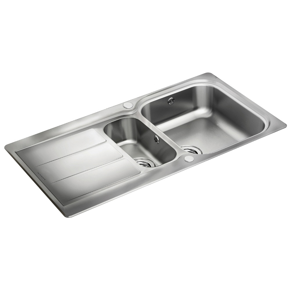 Brushed Stainless Steel Sinks Kitchen : ... ? View All 1.5 Bowl Sinks ? View All Rangemaster 1.5 Bowl Sinks