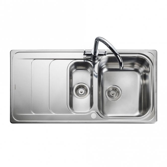 Rangemaster Houston 1 5 Bowl Brushed Stainless Steel Kitchen Sink