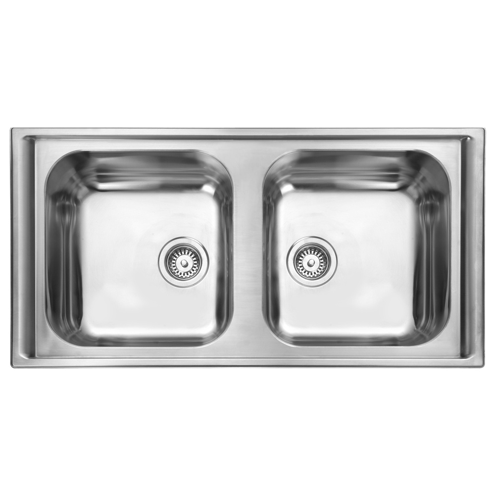 Brushed Stainless Steel Sinks Kitchen : ... ? View All 2.0 Bowl Sinks ? View All Rangemaster 2.0 Bowl Sinks