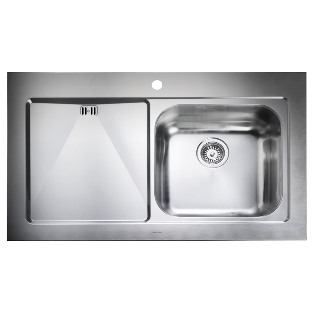 Brushed Stainless Steel Sinks Kitchen : ... view all 1 0 bowl sinks view all rangemaster 1 0 bowl sinks