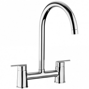Rangemaster Modern Bridge Chrome Kitchen Sink Mixer Tap TBL2CM