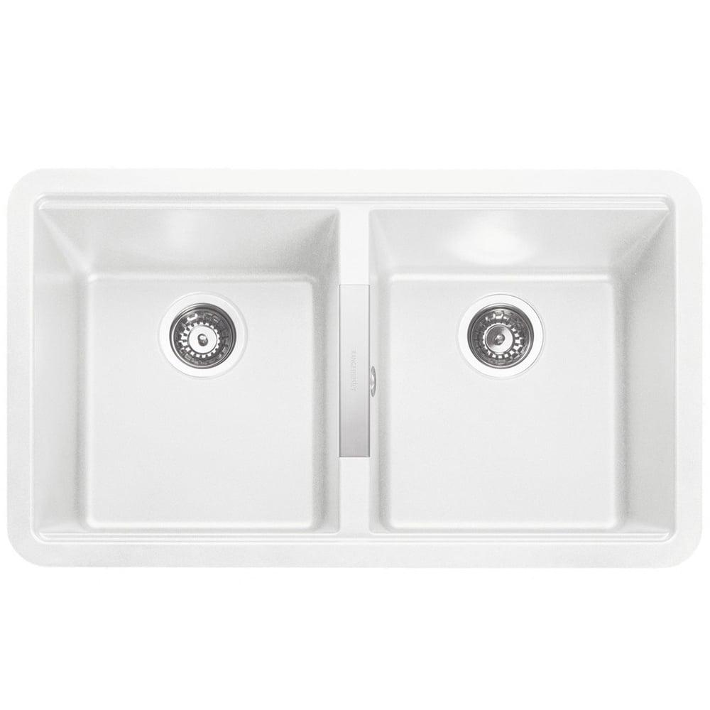 Rangemaster Paragon 2 0 Bowl Undermount Crystal White Granite Kitchen Sink Kitchen From Taps Uk
