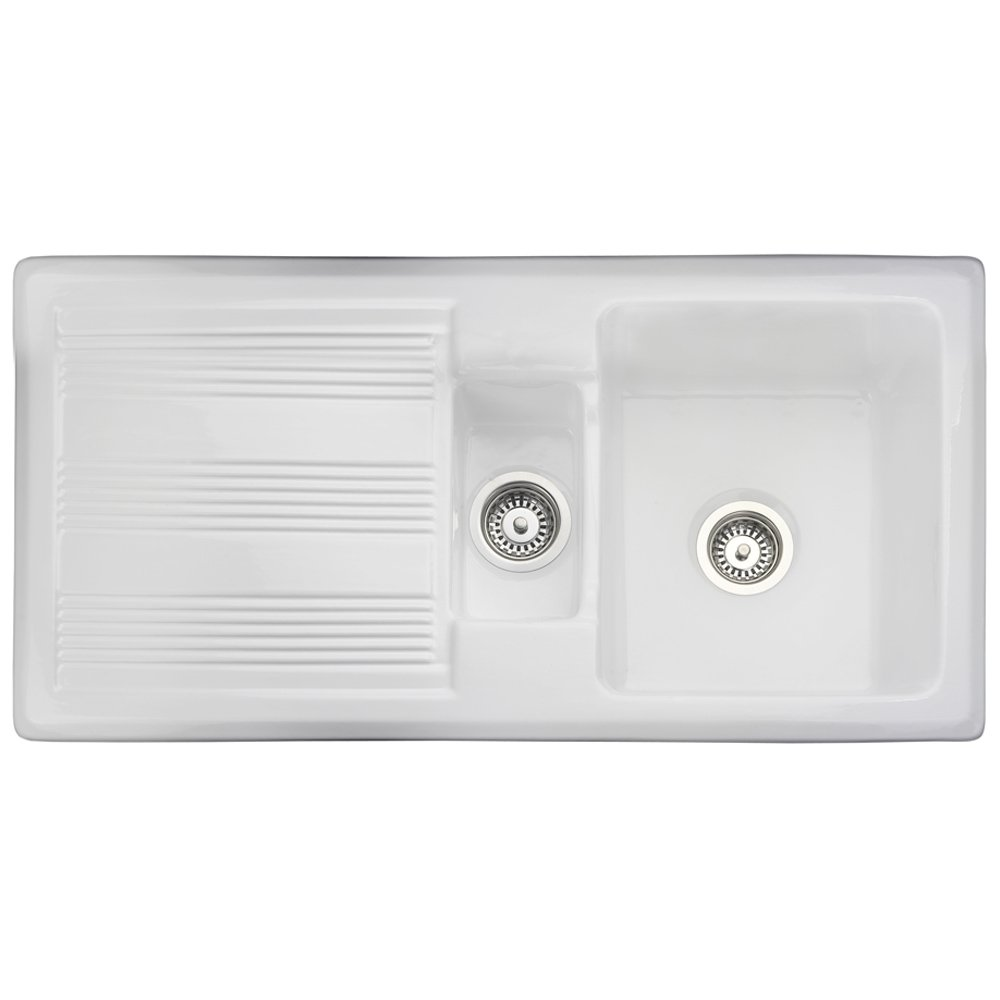 Kitchen Sinks Portland : ... Bowl Ceramic Sinks ? View All Rangemaster 1.5 Bowl Ceramic Sinks