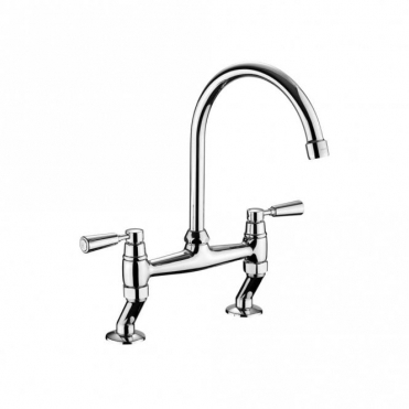 Rangemaster Traditional Bridge Brushed Kitchen Sink Mixer Tap TBL3B-/BF