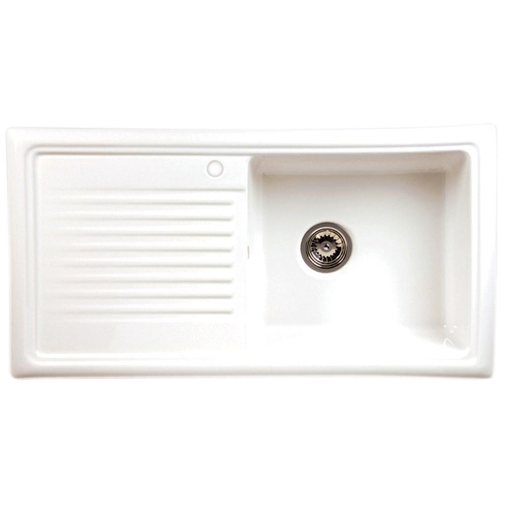 Reginox 1 0 Bowl White Ceramic Kitchen Sink Waste Reginox Elbe Tap