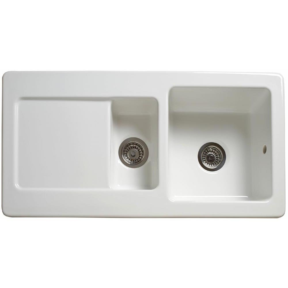 Reginox 1.5 Bowl Ceramic White Kitchen Sink RL501CW - Reginox from ...