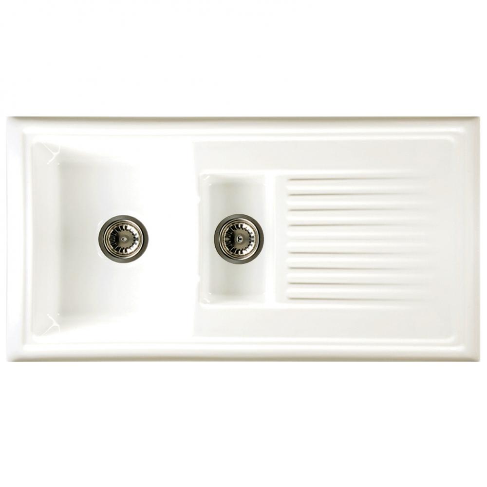Reginox 1 5 Bowl White Ceramic Kitchen Sink Waste