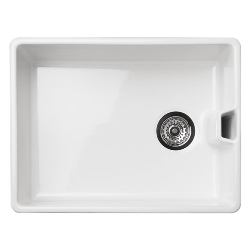 reginox belfast 10 bowl gloss white ceramic kitchen sink no waste. Interior Design Ideas. Home Design Ideas