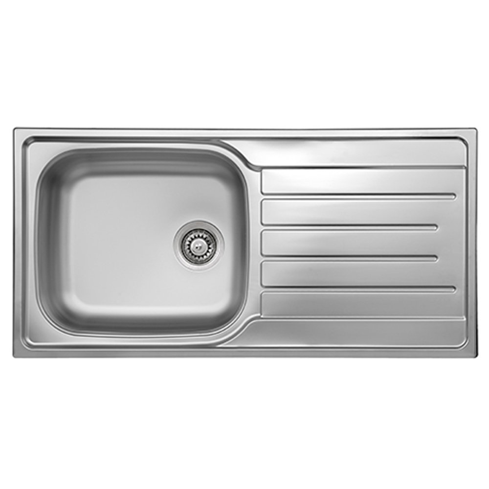 reginox daytona 1 0 bowl stainless steel kitchen sink waste