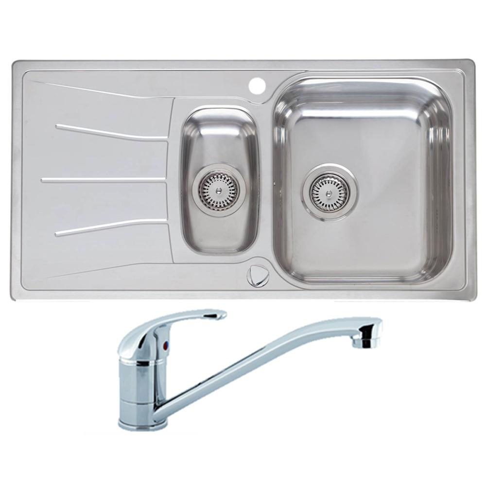Groovy Reginox Diplomat 1 5 Stainless Steel Kitchen Sink Waste Interior Design Ideas Apansoteloinfo