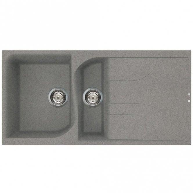 Reginox Ego 475 1.5 Bowl Granite Titanium Kitchen Sink & Waste ...