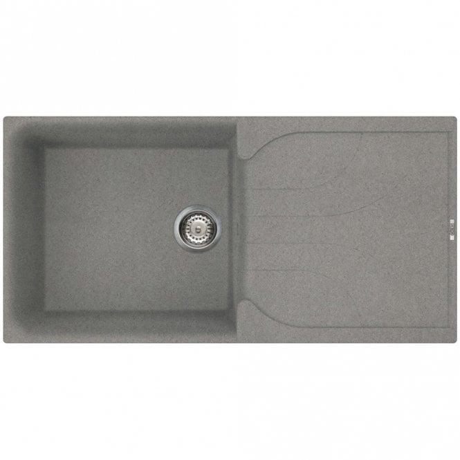 Reginox Ego 480 1.0 Bowl Granite Titanium Kitchen Sink & Waste ...