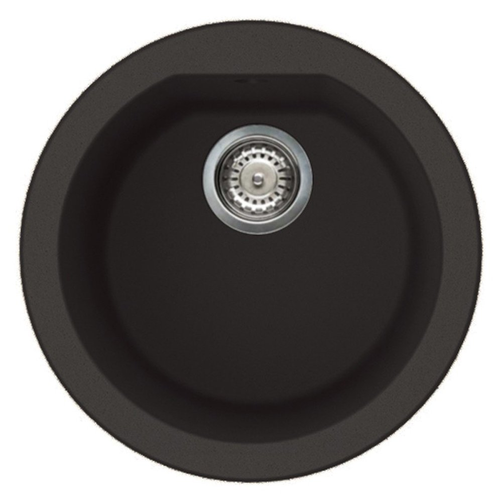 delightful Round Black Kitchen Sink #6: Reginox Fox Round 1 0 Bowl Black Undermount Kitchen Sink