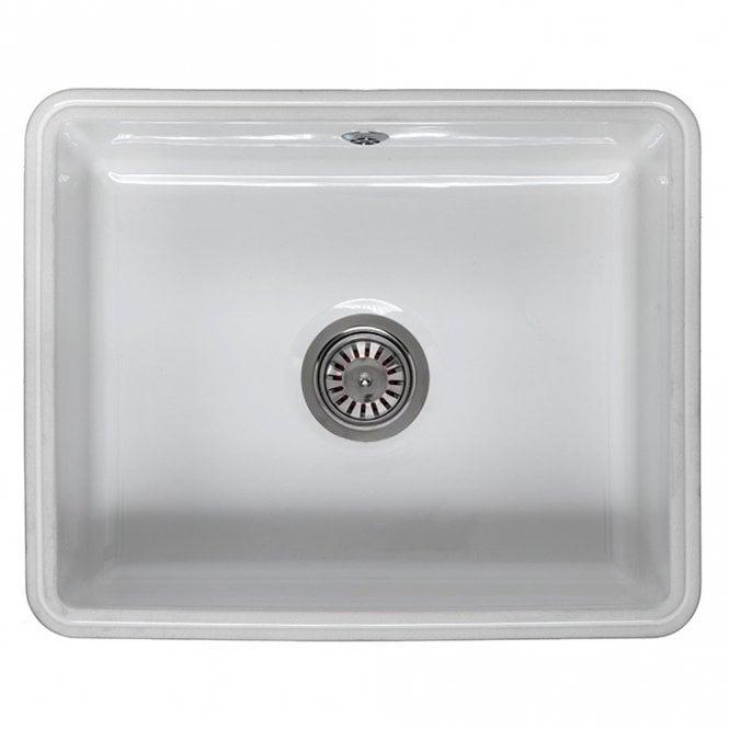 Reginox Mataro 1.0 Bowl White Ceramic Undermount Kitchen Sink ...
