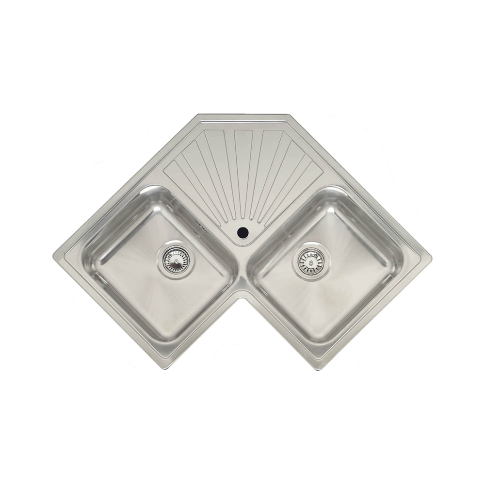 Reginox Montreal 2 0 Bowl Polished Stainless Steel Corner Kitchen Sink Stainless Steel Kitchen Sinks From Taps Uk