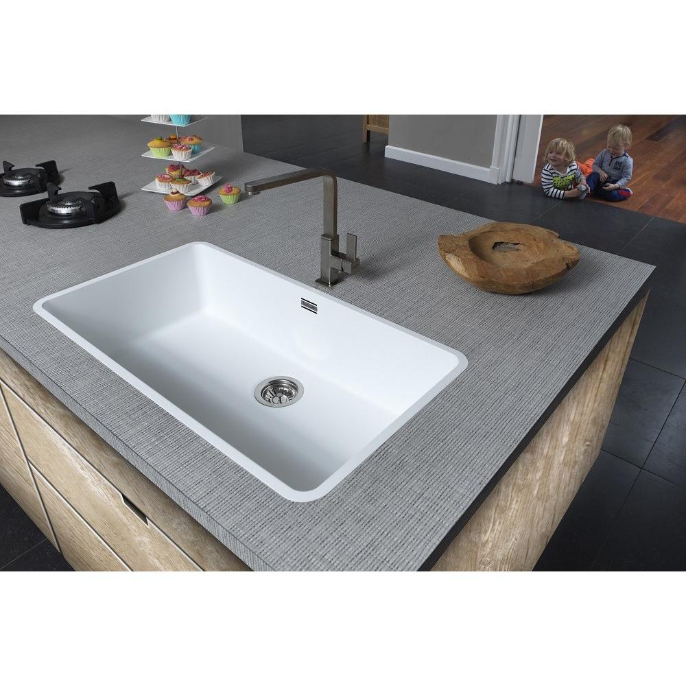 Reginox Ohio 80x42 1 0 Bowl White Kitchen Sink Ohio80x42 L Cw