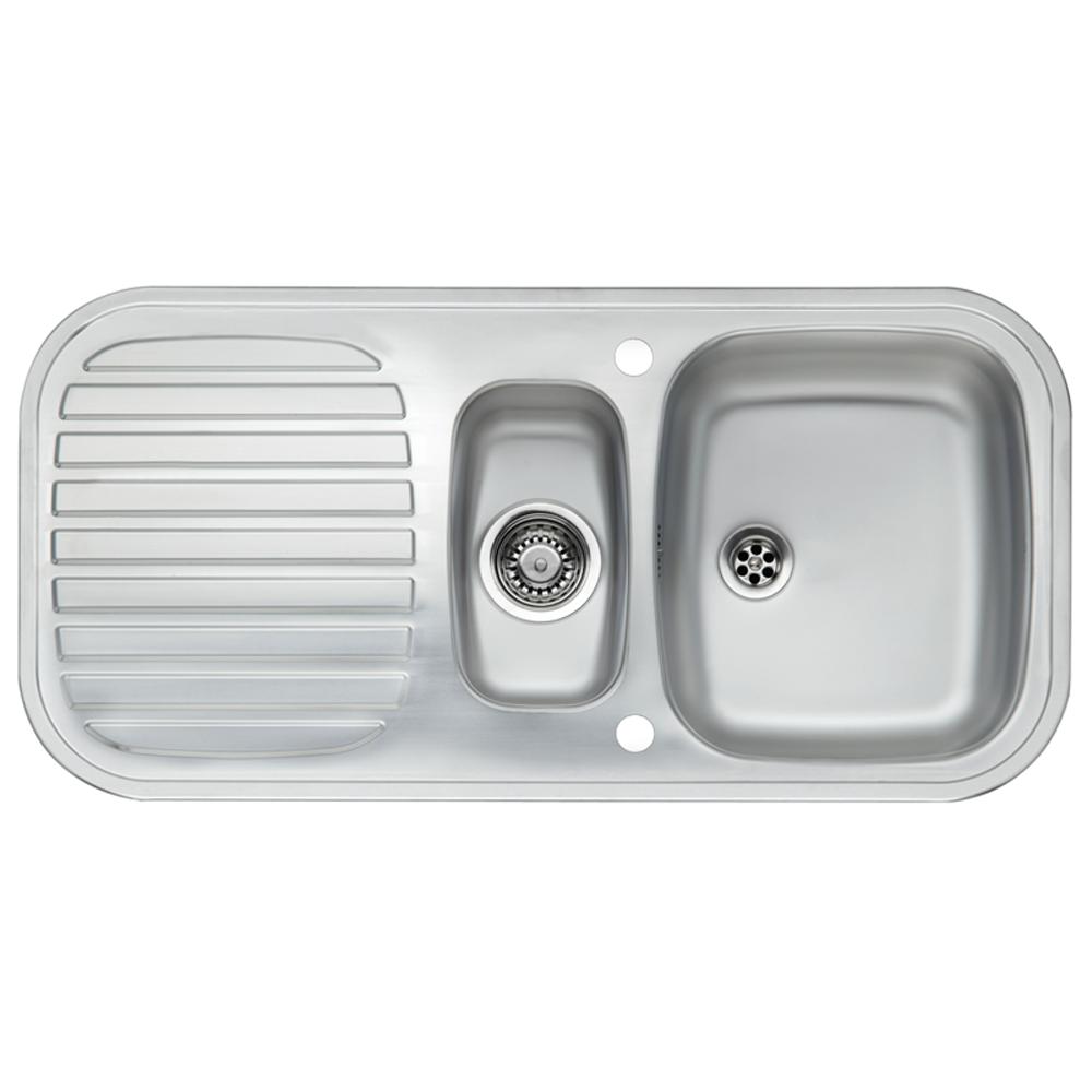 Reginox Prince S1 5 1 5 Bowl Satin Stainless Steel Kitchen Sink