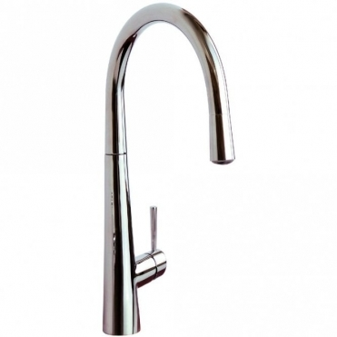 Reginox Virage Chrome Single Lever Pull Out Spray Kitchen Sink Mixer Tap