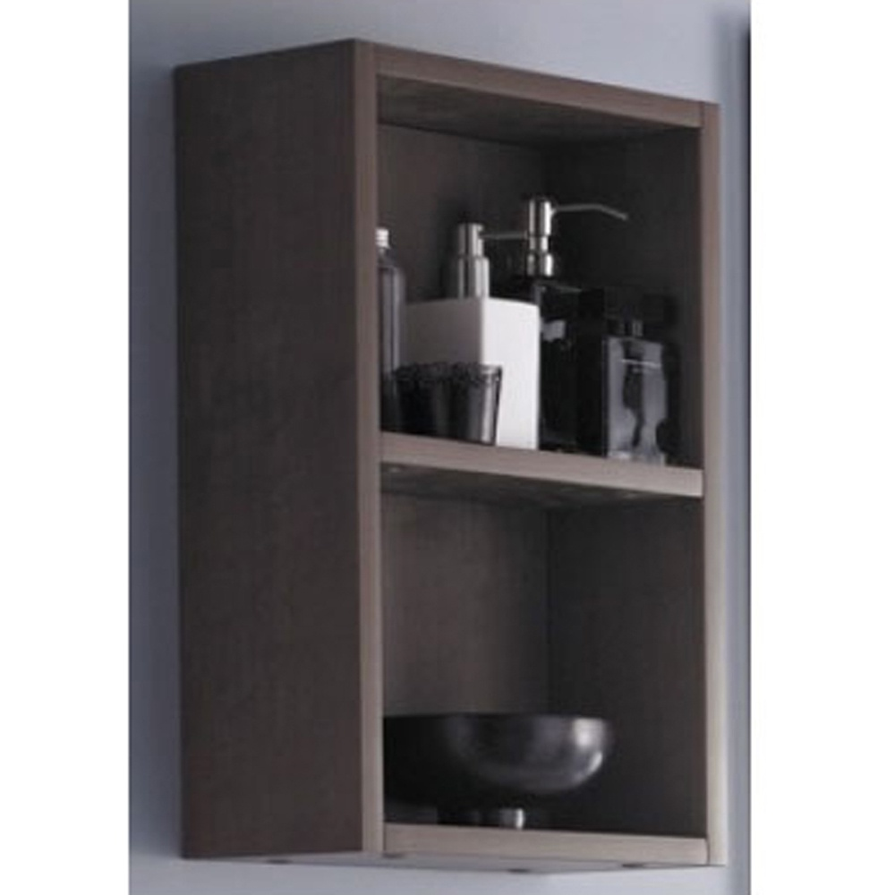 relax oak wall mounted bathroom cabinet 1th basin side