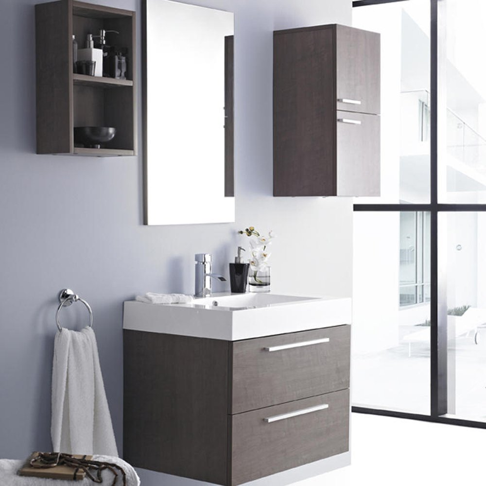 Elegant  Melannco Floating Shelves In Grey Set Of 4 From Bed Bath Amp Beyond