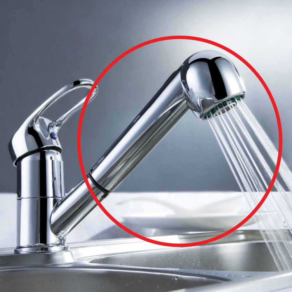 replacement multi function kitchen sink mixer tap pullout head rinser chrome p16546 129529 image